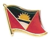 ANTIGUA - Wholesale lot of 12 flag hat lapel pins ef009