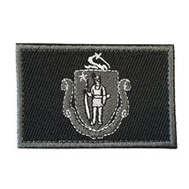 SpaceAuto Massachusetts State Flag Tactical Morale Patch Black Army Patches - $10.36