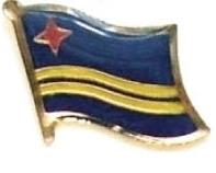 ARUBA - Wholesale lot of 12 flag hat lapel pins ef013