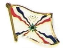 ASSYRIA - Wholesale lot of 12 flag hat lapel pins ef014