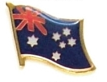AUSTRALIA - Wholesale lot of 12 flag lapel pins ef015