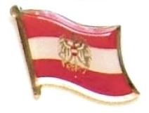 AUSTRIA EAGLE - Wholesale lot 12 flag lapel pins ef016