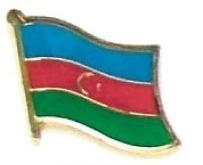 AZERBAIJAN - Wholesale lot 12 flag hat lapel pins ef018