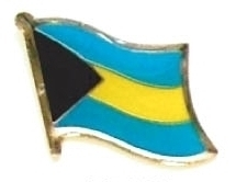 BAHAMAS - Wholesale lot of 12 flag hat lapel pins ef020 Bonanza