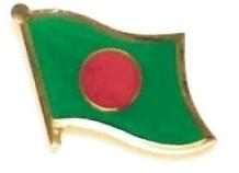 BANGLADESH - Wholesale lot 12 flag hat lapel pins ef022