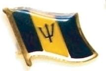 BARBADOS - Wholesale lot 12 flag hat lapel pins ef023