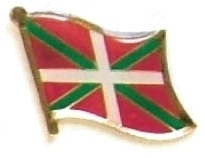 BASQUE LANDS - Wholesale lot 12 flag lapel pins ef024