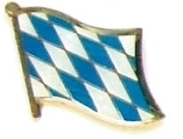 BAVARIA - Wholesale lot of 12 flag hat lapel pins ef025