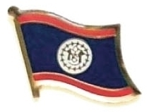 BELIZE - Wholesale lot of 12 flag hat lapel pins ef028