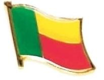 BENIN - Wholesale lot of 12 flag hat lapel pins ef029
