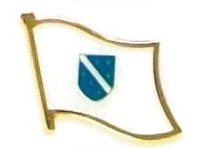 BOSNIA - Wholesale lot 12 flag hat lapel pins ef034 old