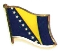 BOSNIA - Wholesale lot of 12 flag hat lapel pins ef034
