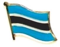 BOTSWANA - Wholesale lot 12 flag hat lapel pins ef035