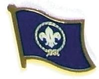 BOY SCOUT - Wholesale lot 12 flag hat lapel pins ef264