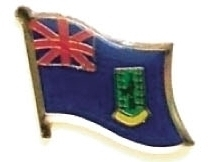 BRITISH VIRGIN ISLANDS - Wholesale 12 flag pins ef036