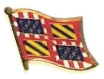 BURGUNDY - Wholesale lot 12 flag hat lapel pins ef042