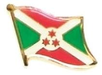 BURUNDI - Wholesale lot of 12 flag hat lapel pins ef043