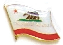 CALIFORNIA - Wholesale lot 12 state flag hat pins ep505