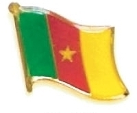 CAMEROON - Wholesale lot 12 flag hat lapel pins ef045