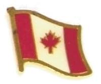 CANADA - Wholesale lot of 12 flag hat lapel pins ef046