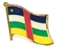 CENTRAL AFRICAN - Lot of 12 africa flag hat pins ef049