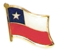 CHILE - Wholesale lot of 12 flag hat lapel pins ef051