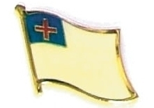 CHRISTIAN - Wholesale lot 12 flag hat lapel pins ef262