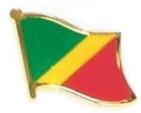 CONGO REPUBLIC - Wholesale lot 12 flag lapel pins ef058