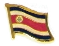 COSTA RICA - Wholesale lot 12 flag hat lapel pins ef060