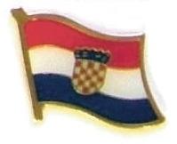 CROATIA - Wholesale lot of 12 flag hat lapel pins ef061