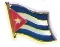 CUBA - Wholesale lot 12 cuban flag hat lapel pins ef062