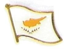 CYPRUS - Wholesale lot of 12 flag hat lapel pins ef064