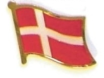 DENMARK - Wholesale lot of 12 flag hat lapel pins ef067