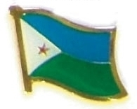 DJIBOUTI - Wholesale lot 12 flag hat lapel pins ef068