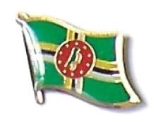 DOMINICA - Wholesale lot 12 flag hat lapel pins ef069