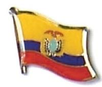 ECUADOR - Wholesale lot of 12 flag hat lapel pins ef073