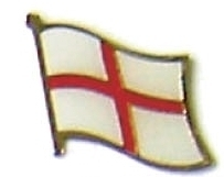 ENGLAND - Wholesale lot of 12 flag hat lapel pins ef076