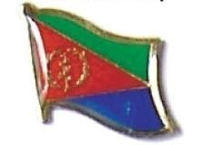 ERITREA - Wholesale lot of 12 flag hat lapel pins ef078