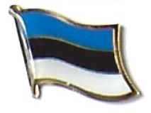 ESTONIA - Wholesale lot of 12 flag hat lapel pins ef079