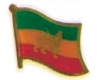 ETHIOPIA - Wholesale lot 12 flag lapel pins ef080 old