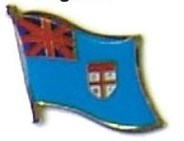 FIJI - Wholesale lot of 12 flag hat lapel pins ef084