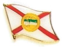 FLORIDA - Wholesale lot 12 state flag lapel pins ep510