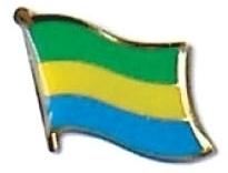 GABON - Wholesale lot of 12 flag hat lapel pins ef087