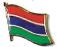 GAMBIA - Wholesale lot of 12 flag hat lapel pins ef088