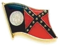 GEORGIA - Wholesale lot 12 state flag lapel pins ep511