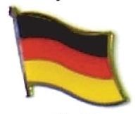GERMANY - Wholesale lot 12 german flag lapel pins ef091