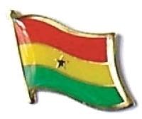 GHANA - Wholesale lot of 12 flag hat lapel pins ef092