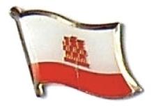 GIBRALTAR - Wholesale lot 12 flag hat lapel pins ef093