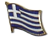 GREECE - Wholesale lot of 12 flag hat lapel pins ef094