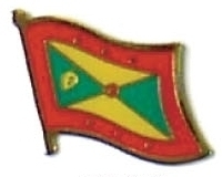 GRENADA - Wholesale lot of 12 flag hat lapel pins ef096